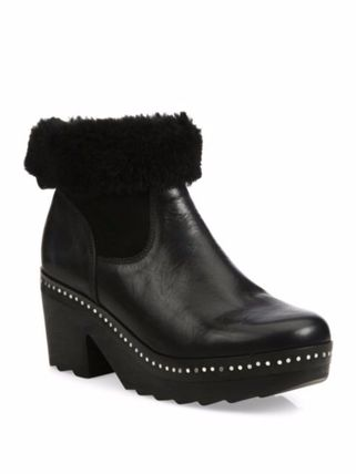 Nelson Leather & Shearling 37 Boots