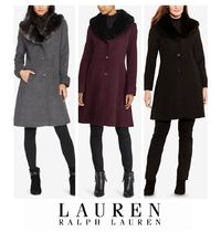 Ralph Lauren Wool Plain Medium Elegant Style Chester Coats