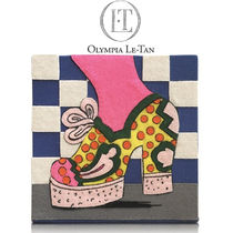 Olympia Le Tan Dots Cambus Handmade Party Style Clutches