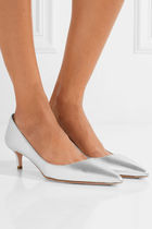 PRADA Leather Kitten Heel Pumps & Mules
