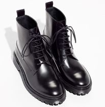 & Other Stories Lace-up Casual Style Plain Leather Lace-up Boots