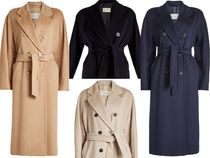 MaxMara MADAME Wool Plain Long Elegant Style Chester Coats