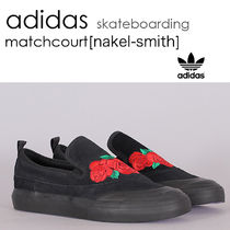 adidas Skateboarding Flower Patterns Suede Street Style Loafers & Slip-ons