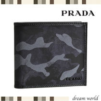 PRADA Camouflage Folding Wallets