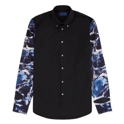 Etudes Studios Button-down Camouflage Street Style Tie-dye Long Sleeves