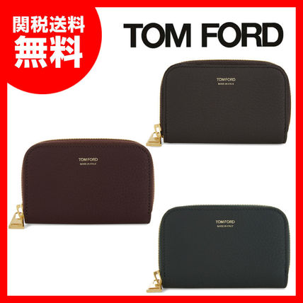 TOM FORD Plain Leather Coin Cases