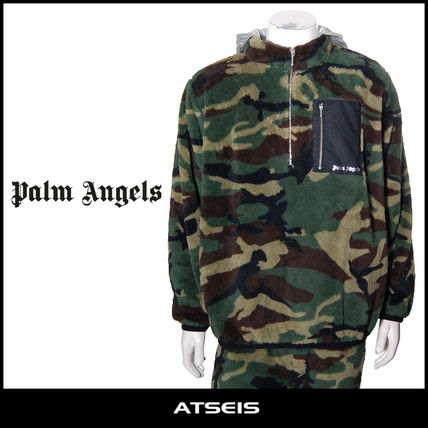 Pullovers Camouflage Street Style Long Sleeves Hoodies