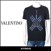 VALENTINO Pullovers Street Style Cotton Short Sleeves T-Shirts