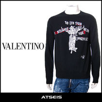 VALENTINO Pullovers Wool Street Style Long Sleeves Sweaters