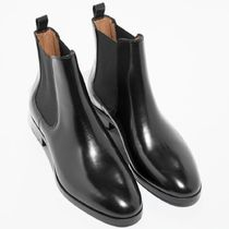 & Other Stories Round Toe Casual Style Plain Leather Chelsea Boots