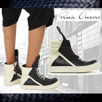 RICK OWENS Plain Leather Sneakers
