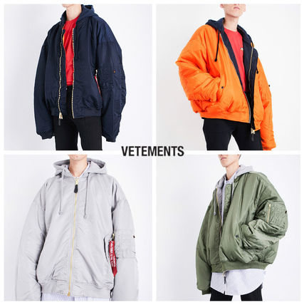 VETEMENTS Short Plain MA-1 Oversized Jackets