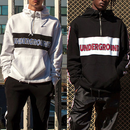 Studded V-Neck Long Sleeves Cotton Logos on the Sleeves