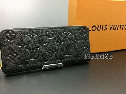 Louis Vuitton MONOGRAM EMPREINTE Monoglam Unisex Leather Long Wallets
