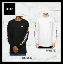 HUF Crew Neck Union Jack mark Unisex Long Sleeves Cotton