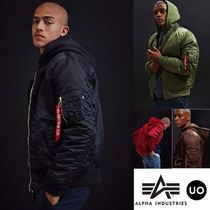 ALPHA INDUSTRIES Short Plain Bomber Jackets