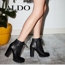 ALDO Platform Casual Style Plain Leather Ankle & Booties Boots