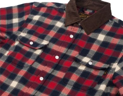 Gingham Other Plaid Patterns Street Style Long Sleeves