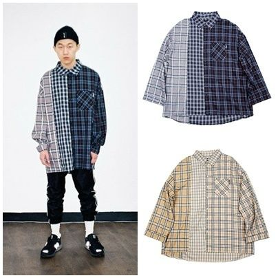 AJO AJOBYAJO Shirts Other Check Patterns Unisex Street Style Long Sleeves Cotton