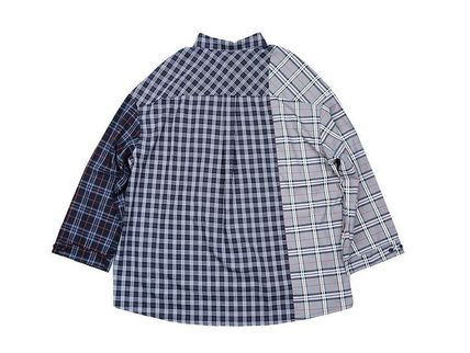 AJO AJOBYAJO Shirts Other Plaid Patterns Unisex Street Style Long Sleeves Cotton 4