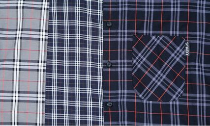 AJO AJOBYAJO Shirts Other Plaid Patterns Unisex Street Style Long Sleeves Cotton 6