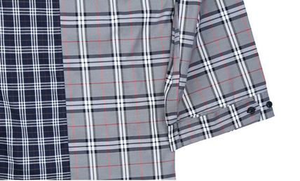 AJO AJOBYAJO Shirts Other Plaid Patterns Unisex Street Style Long Sleeves Cotton 7