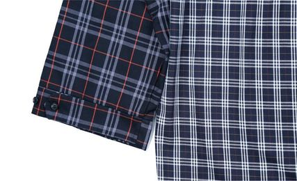 AJO AJOBYAJO Shirts Other Plaid Patterns Unisex Street Style Long Sleeves Cotton 8
