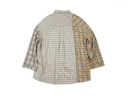 AJO AJOBYAJO Shirts Other Plaid Patterns Unisex Street Style Long Sleeves Cotton 12