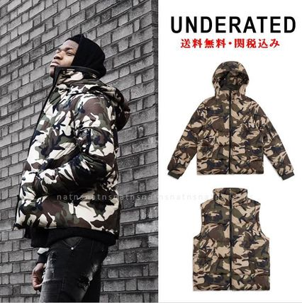 Short Camouflage Street Style Down Jackets
