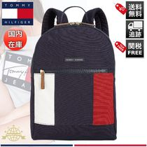 Tommy Hilfiger Stripes Casual Style Unisex Canvas A4 2WAY Backpacks