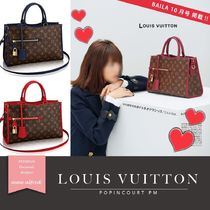 Louis Vuitton Monoglam A4 2WAY Leather Elegant Style Handbags