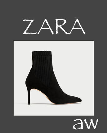 ZARA Pin Heels High Heel Boots