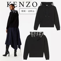 KENZO Casual Style Street Style Long Sleeves Plain Cotton