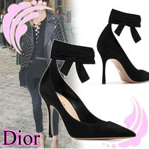 Christian Dior Suede Plain Elegant Style High Heel Pumps & Mules