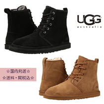 UGG Australia HARKLEY Plain Toe Sheepskin Plain Boots