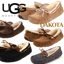 UGG Australia DAKOTA Platform Moccasin Casual Style Plain Leather Handmade