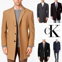 Calvin Klein Wool Plain Long Chester Coats