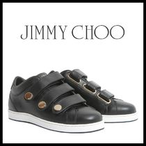 Jimmy Choo Casual Style Leather Low-Top Sneakers
