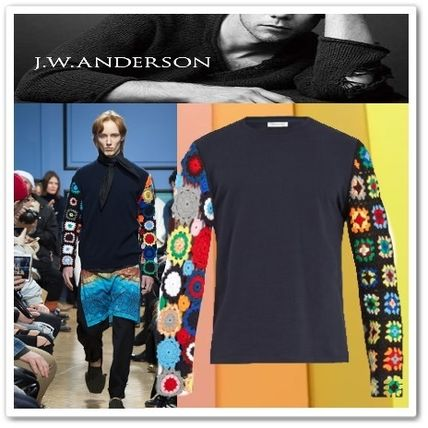 J W ANDERSON Crew Neck Blended Fabrics Long Sleeves Cotton