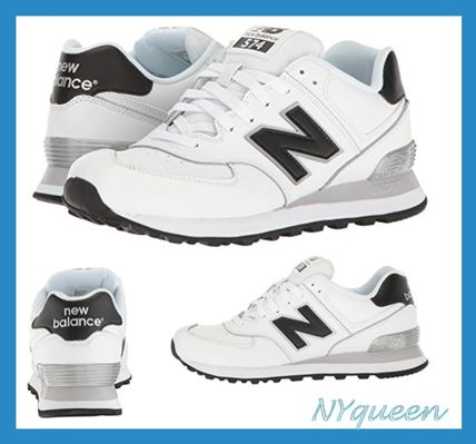 New Balance 574 Casual Style Street Style Plain Leather Low-Top Sneakers