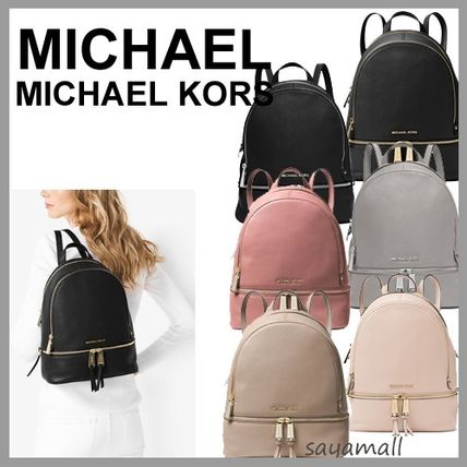 60fc170ec1fa ... Michael Kors Backpacks Casual Style 2WAY Plain Leather Backpacks ...