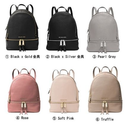 7cb975350649 ... Michael Kors Backpacks Casual Style 2WAY Plain Leather Backpacks 2 ...