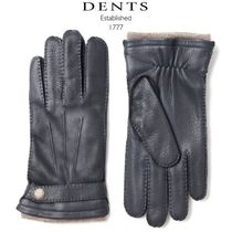 DENTS Blended Fabrics Plain Leather Leather & Faux Leather Gloves