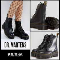 Dr Martens Platform Round Toe Casual Style Plain Leather Boots Boots