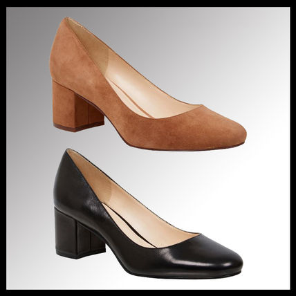 Plain Block Heels Block Heel Pumps & Mules
