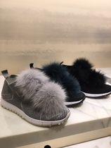 Jimmy Choo Star Round Toe Casual Style Street Style Low-Top Sneakers