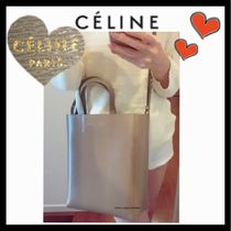 CELINE Cabas Casual Style Unisex Calfskin 2WAY Plain Shoulder Bags