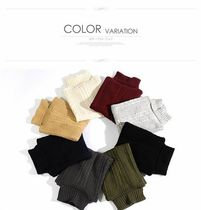 Cable Knit Street Style Long Sleeves Plain Vests & Gillets
