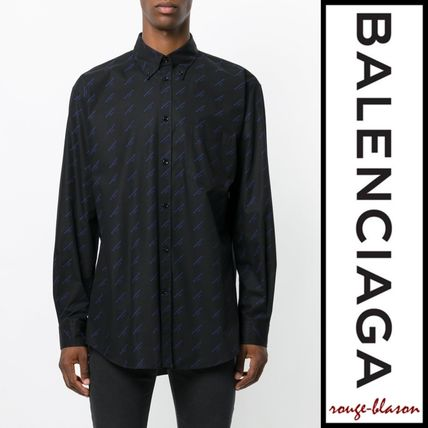 BALENCIAGA Shirts Long Sleeves Plain Cotton Oversized Shirts 6