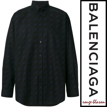 BALENCIAGA Shirts Long Sleeves Plain Cotton Oversized Shirts 7